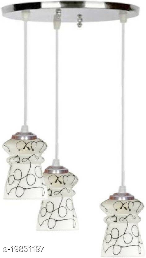 Afast Pandans Hanging  Ceiling Light Of Stylish Colorful & Decorative Three Glass Shade Lamp-DR18