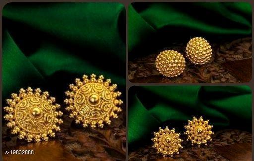 Earrings Gold Plan Pixellytical