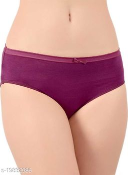 Women Hipster Brown Cotton Blend Panty