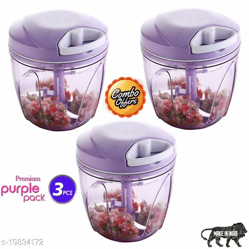 Lanz Combo XL 900ml  Vegetable Chopper, Cutter, Mixer for Kitchen with 5 Stainless Steel + Whisker Blade (Pack of 3)