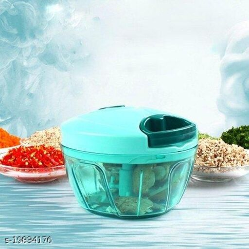 Lanz 450ml Plastic Handy Dori Chopper with 3 Blades + Whisker Blade (Pack of 1)