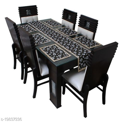 Star Weaves Table Runner With Mats For Dining Table.