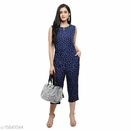 Menasu Women's Polka Print Maxi Jumpsuit