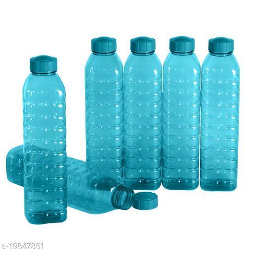 Saura Cubic Fridge Bottle 1000 ml Set of 6 Blue