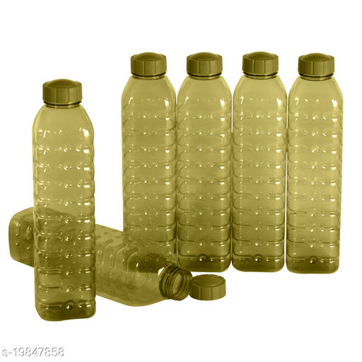 Saura Cubic Fridge Bottle 1000 ml Set of 6 Green