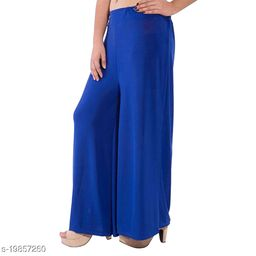 Lets Shine stylish Cheap & Best casual wear palazzo pant for females,Blue ( Size 28 to 36 & Free Size)