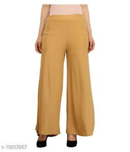 Lets Shine stylish Cheap & Best casual wear palazzo pant for females,Beige ( Size 28 to 36 & Free Size)
