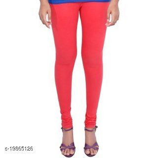 Trendy latest Ultra Soft Cotton( Light peach gajri colour -34) Churidar Solid Regular and Plus 45 Colours Leggings for Womens and Girls.100% cotton and 100% gaurantee.