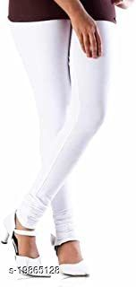 Trendy latest Ultra Soft Cotton(White - 34) Churidar Solid Regular and Plus 45 Colours Leggings for Womens and Girls.100% cotton and 100% gaurantee.
