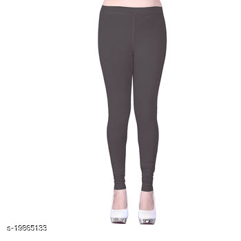 Trendy latest Ultra Soft Cotton(Mid Gray -34) Churidar Solid Regular and Plus 45 Colours Leggings for Womens and Girls.100% cotton and 100% gaurantee.