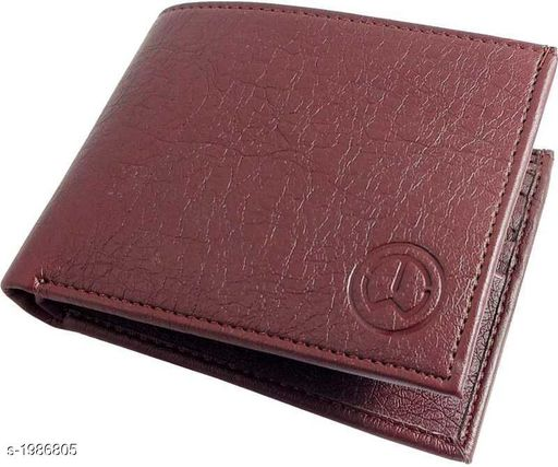 Stylish Men's Maroon Faux Leather/Leatherette Wallet