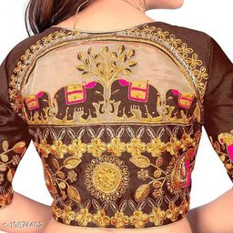 HEAVY EMBRODERY DESIGN FREESIZE BLOUSE BY MAA CREATION