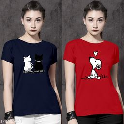 Pretty Fashionista  Combo Women Tshirts