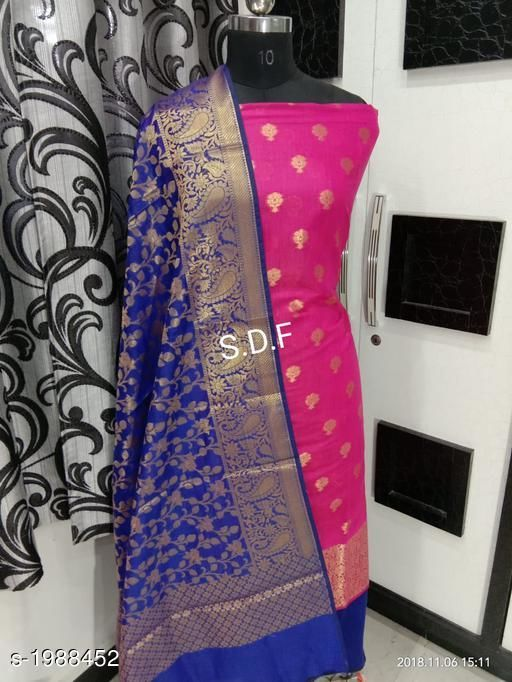 Ethnic Banarasi Cotton Silk Suits & Dress Material