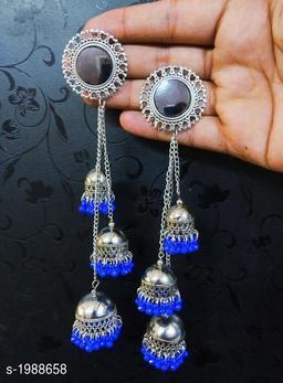 Silver Oxidized Women's Earring