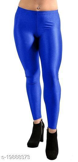 ROYAL BLUE SATIN LEGGINGS FOR WOMEN