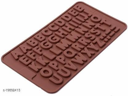 HARDIK TRADERS Silicone Alphabets Shape Chocolate Jelly Candy Mold, Cake Baking Mold, Bakeware Mould, Brown