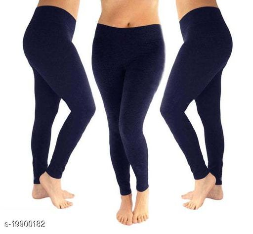 Trendy latest Ultra Soft Cotton(Navy Blue-36) Churidar Solid Regular and Plus 45 Colours Leggings for Womens and Girls.100% cotton and 100% gaurantee.