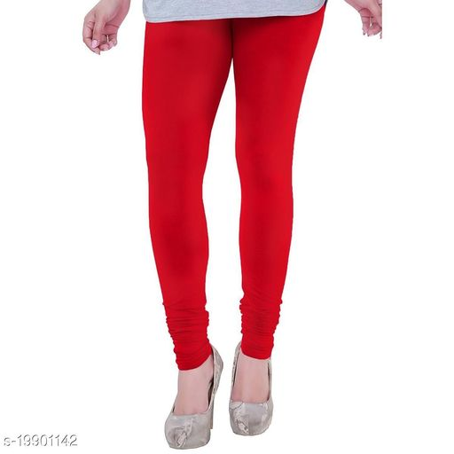 Ttrendy latest Ultra Soft Cotton(Tomato Red-42) Churidar Solid Regular and Plus 45 Colours Leggings for Womens and Girls.100% cotton and 100% gaurantee.