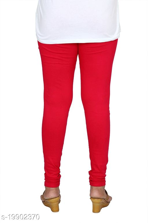 Trendy latest Ultra Soft Cotton(Dark Gajri -40) Churidar Solid Regular and Plus 45 Colours Leggings for Womens and Girls.100% cotton and 100% gaurantee.