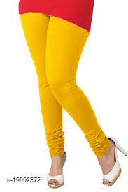 Trendy latest Ultra Soft Cotton( Yellow -40) Churidar Solid Regular and Plus 45 Colours Leggings for Womens and Girls.100% cotton and 100% gaurantee.