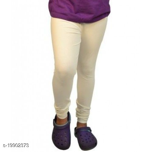 Trendy latest Ultra Soft Cotton( cream (off white)-40) Churidar Solid Regular and Plus 45 Colours Leggings for Womens and Girls.100% cotton and 100% gaurantee.