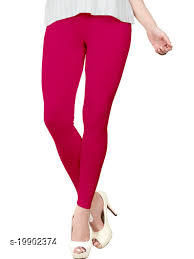 Trendy latest Ultra Soft Cotton(Dark Rani-40) Churidar Solid Regular and Plus 45 Colours Leggings for Womens and Girls.100% cotton and 100% gaurantee.