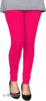 Trendy latest Ultra Soft Cotton( Light rani -40) Churidar Solid Regular and Plus 45 Colours Leggings for Womens and Girls.100% cotton and 100% gaurantee.