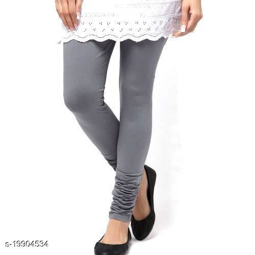 Trendy latest Ultra Soft Cotton( Light grey -44) Churidar Solid Regular and Plus 45 Colours Leggings for Womens and Girls.100% cotton and 100% gaurantee.