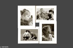 5x7 Wall Photo Frame Collage 4 in 1 Photo Frame White Synthetic Wood (15 x 15 inches)