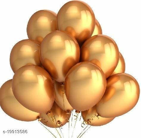Style Secrets Metallic Gold Superior Quality Latex Balloons for Every Ocassion ( Pack of 50 Pcs )