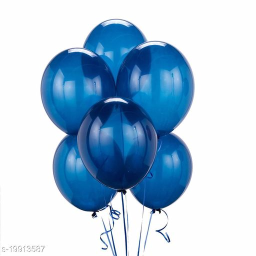 Style Secrets Metallic Blue Superior Quality Latex Balloons for Every Ocassion ( Pack of 50 Pcs )