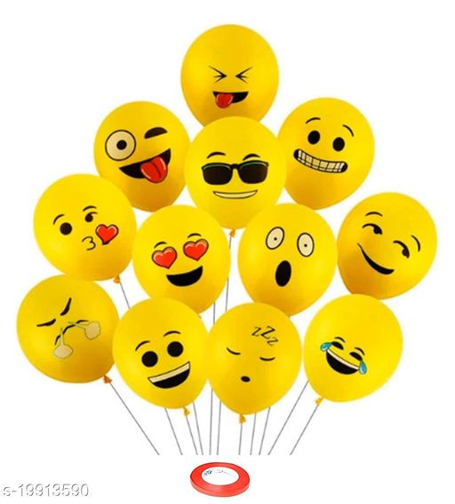 Style Secrets Premium Quality Emoji Expression Balloons for Party and Masti ( Pack of 25 Pcs )