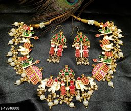 Wedding Bride Necklace Set for Women & Girls