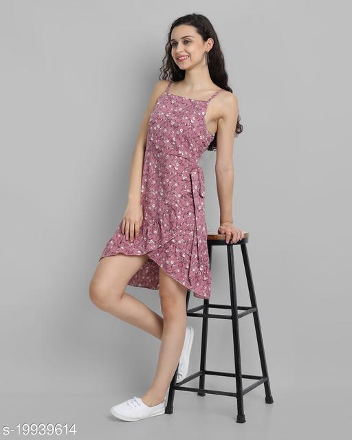 AAROJ Women A-line Pink Dress