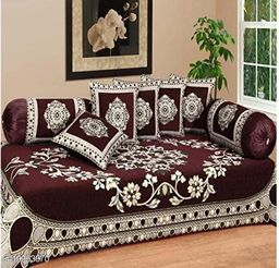 Diwan Set For Single Bed Soft Diwan Set Cotton Fabric Chenille