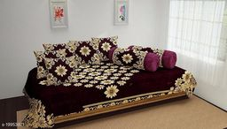 Diwan Set For Single Bed Soft Diwan Set Cotton Fabric Printed