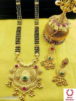 Bhumi09 Gold Plated Dhingli Mangalsutra Best Quality For Women