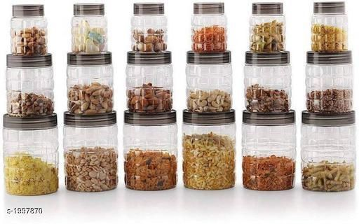 Tea Coffee & Sugar Container, Grocery Container(Pack Of 18)