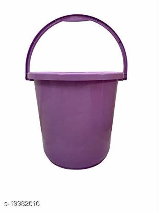 Regalo Plastic Buckets For Bathroom, purple, 16 L (1 Piece)