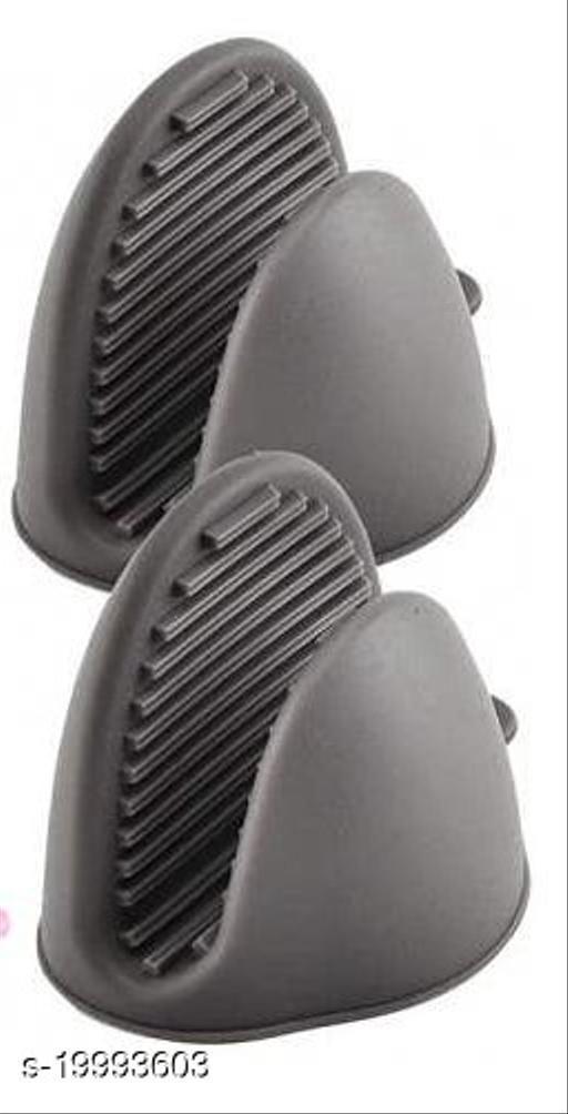 Amaira Silicone Pot Holder Heat Resistant,  1 PAIR  (Multicolor) - Vol-2