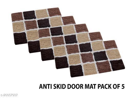 Cotton Door Mat with Anti Skid Back set of 5