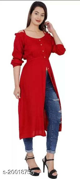 Niyal Apparels Women Ethnic Wear Kurti (Maroon)