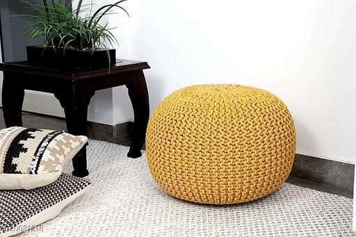 Singhs Villas Natural Fibre Pouffe for living Room
