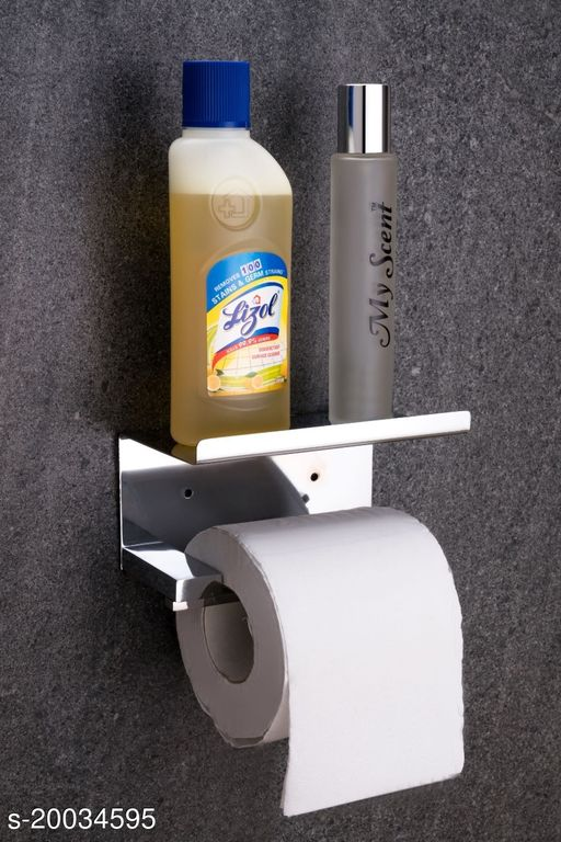 Whizzo 304 Stainless Steel  Toilet Roll Tissue Paper Holder For Bathroom With Mobile Stand
