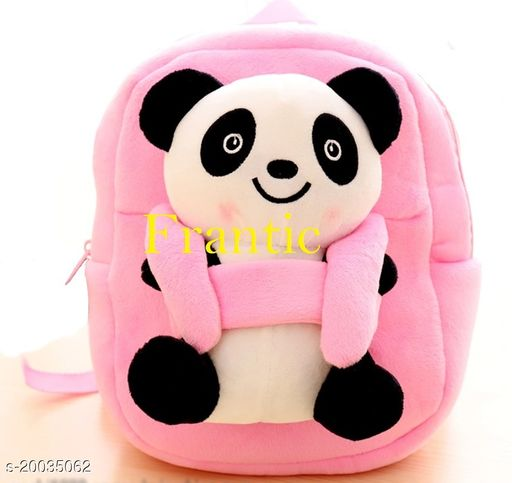 Frantic Kids Plush Bag for Prenursery/Nurseary/Picnic/Birthday (PinkBigPanda)