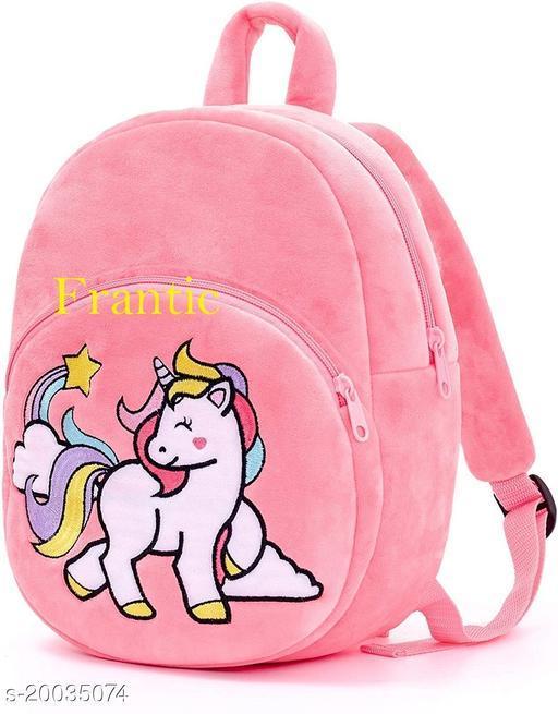 Frantic Kids Plush Bag for Prenursery/Nurseary/Picnic/Birthday (HotPinkUnicorn21)