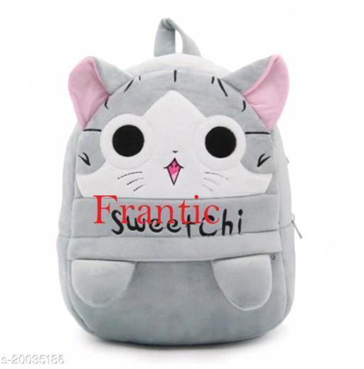 Frantic Kids Plush Bag for Prenursery/Nurseary/Picnic/Birthday (GreySweetchiP)