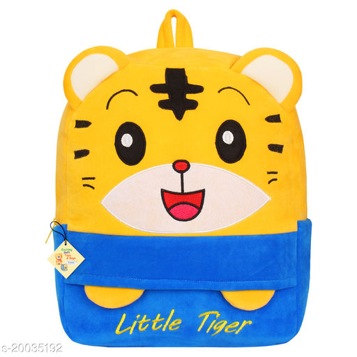 Frantic Kids Plush Bag for Prenursery/Nurseary/Picnic/Birthday (BlueLittleTigerP)