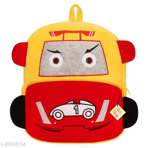 Frantic Kids Plush Bag for Prenursery/Nurseary/Picnic/Birthday (YellowRacingCar)